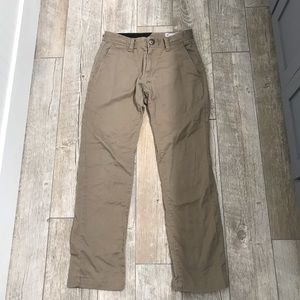 Volcom Tan Pants Size 28